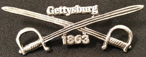 Gettysburg Crossed Swords Pin