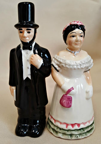 lincoln and mary salt & pepper shakers