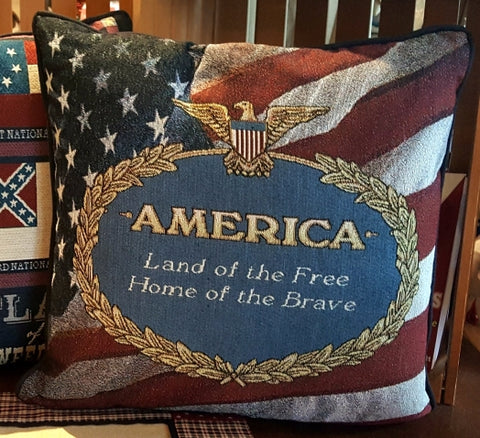 America Tapestry Pillow & throw