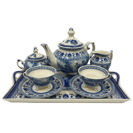 Liberty Blue Tea Set with Tray