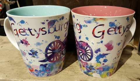 Watercolor Gettysburg Cannon Coffee Mug