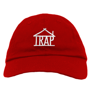 Trap House Logo Dad Hat [Red]