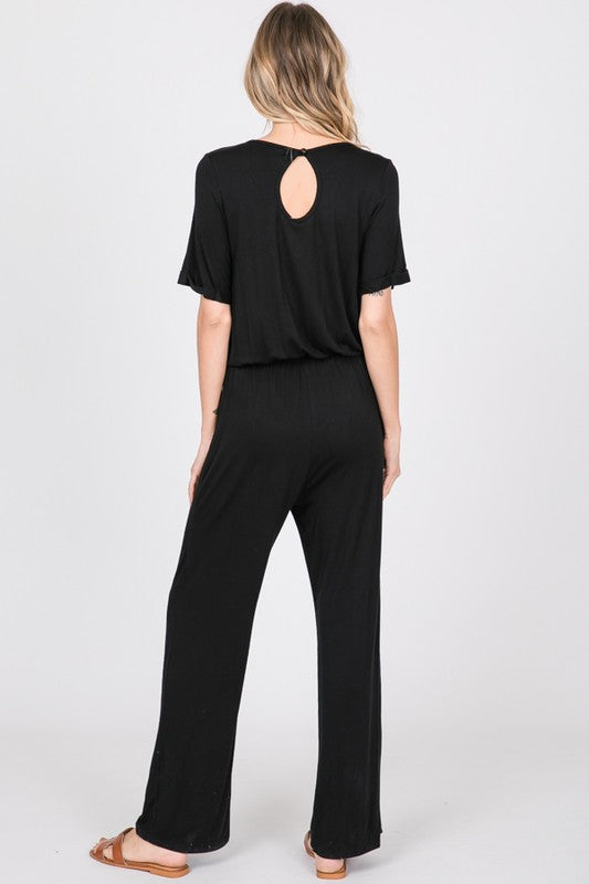 ON THE GO BLACK JUMPSUIT