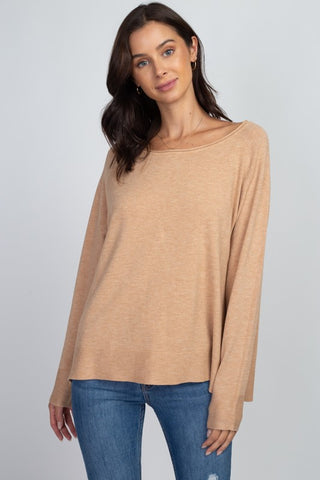 ITS A DATE RUST COLORBLOCK SWEATER