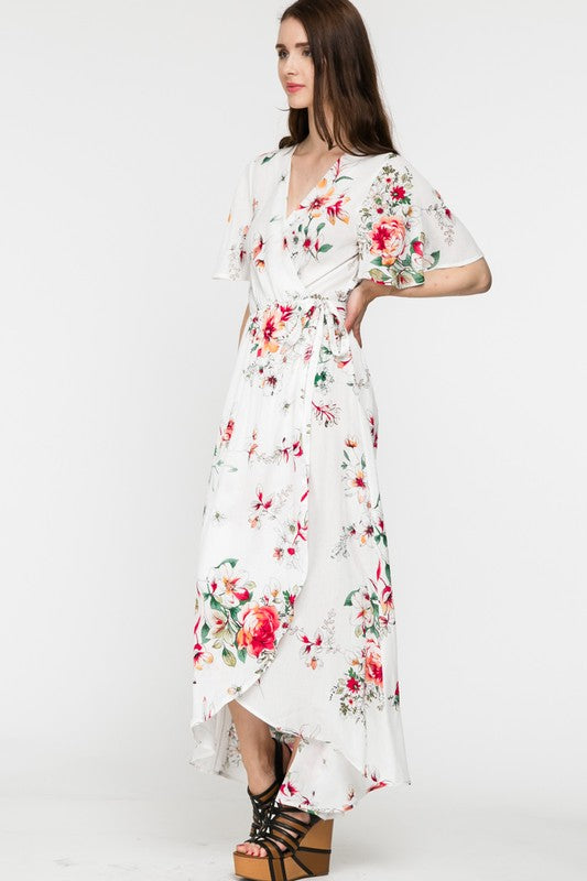 BLOOMING TODAY FLORAL DRESS - IVORY