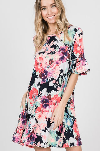 VACATION BOUND FLORAL DRESS