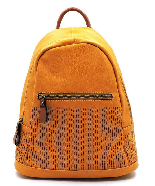 CHILL PERFORATED BACKPACK - MUSTARD