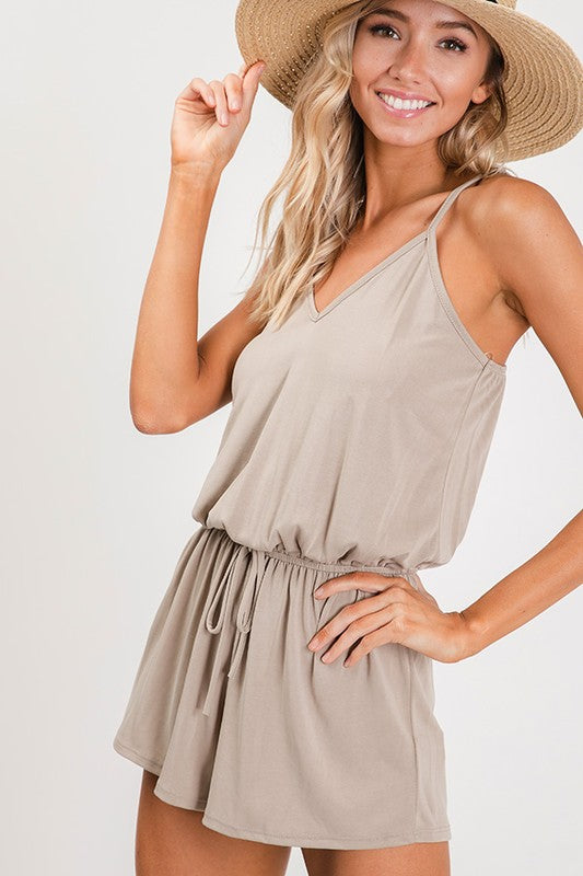 NOTHING LIKE YOU ROMPER- TAUPE