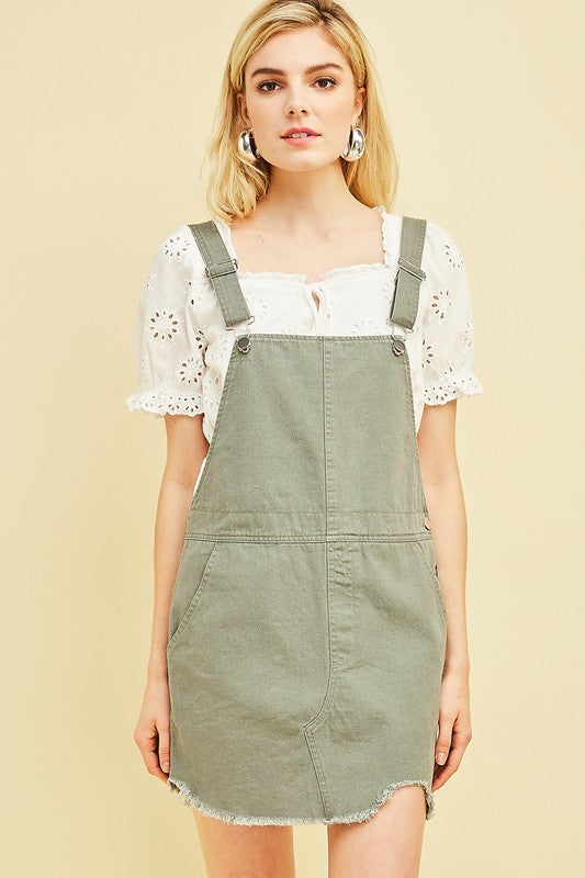 GET GOIN' DENIM OVERALL SKIRT