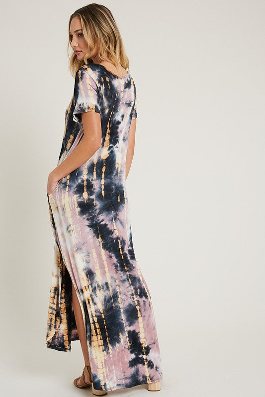 COME ON OVER TIE DYE MAXI DRESS
