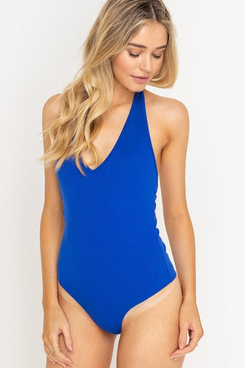 MUST SEE TO BELIEVE BODYSUIT - ROYAL BLUE