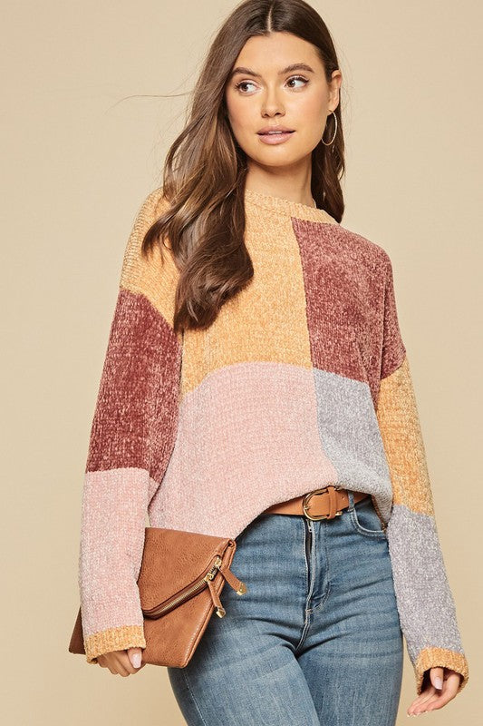 THIS IS IT COLORBLOCK SWEATER
