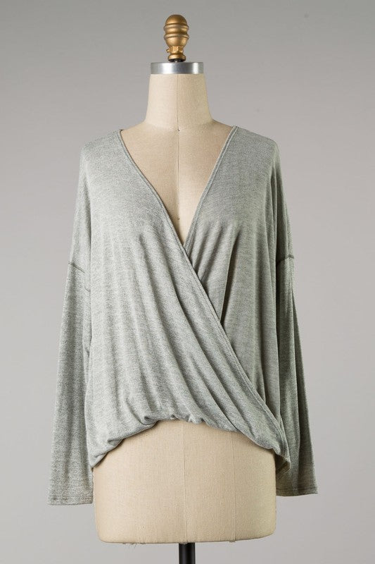 BEST OF BOTH WORLDS TOP- OLIVE