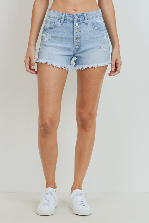 UNDER THE RADAR LIGHTWASH DENIM SHORTS