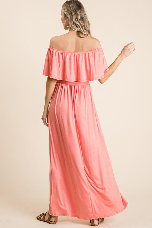 SOMETHING ABOUT YOU MAXI DRESS - CORAL
