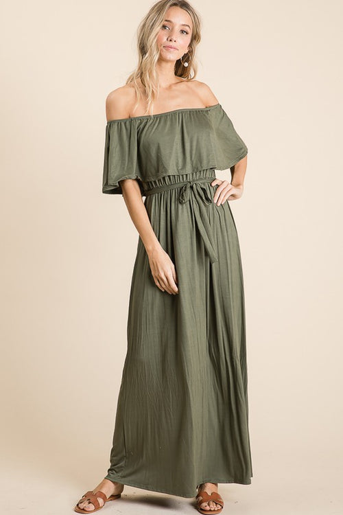 SOMETHING ABOUT YOU MAXI DRESS - OLIVE