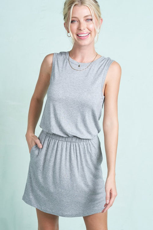 SOMETHING SPECIAL MINI DRESS - HEATHER GREY