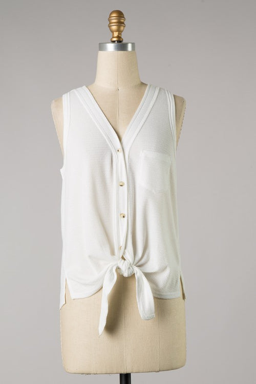 KICK THE DUST TANK TOP - IVORY