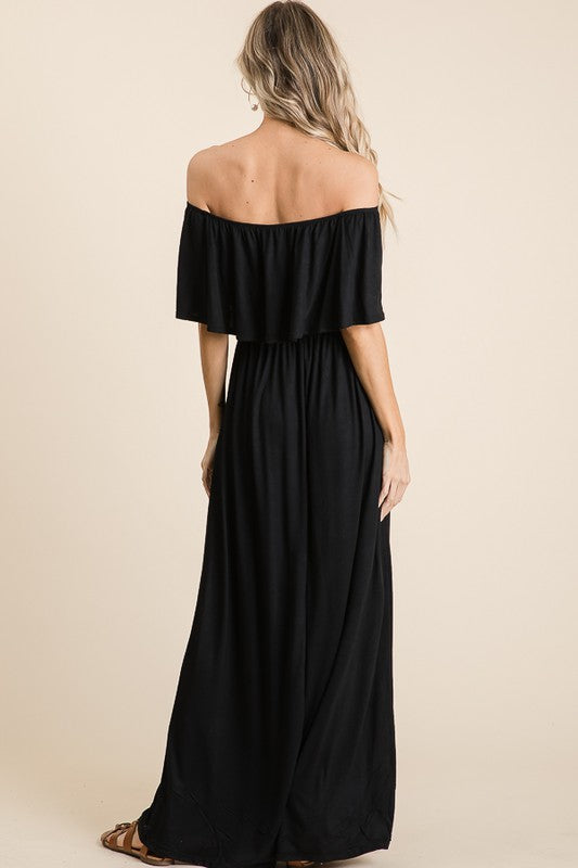 SOMETHING ABOUT YOU MAXI DRESS - BLACK