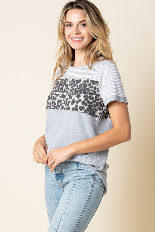 STORY OF MY LIFE LEOPARD TEE