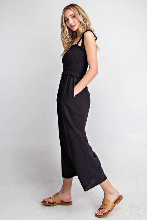 NEW BEGINNINGS BLACK JUMPSUIT