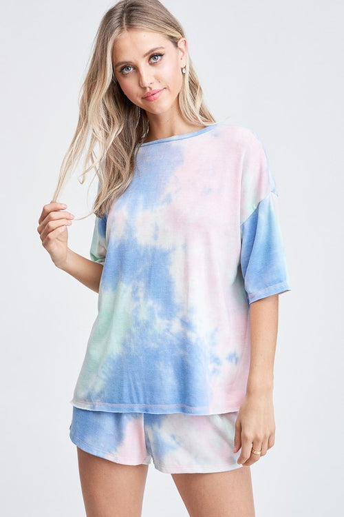 PEACE AND LOVE TIE DYE TOP