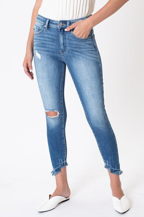 WHATEVER YOU NEED LIGHT WASH DENIM