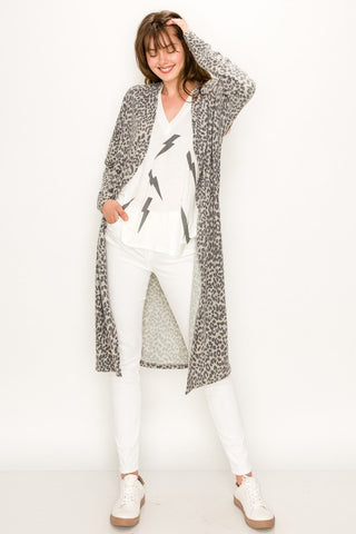CAREFREE DAYS LEOPARD CARDIGAN