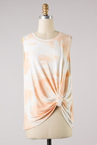 JUST PEACHY TIE DYE TANK