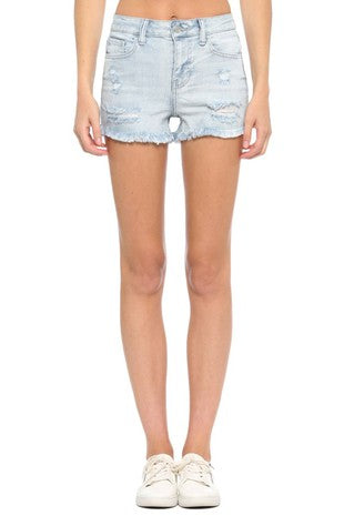 FREEBIRD HIGH RISE DENIM SHORTS