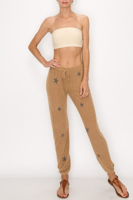 STAR PRINT SWEAT PANTS
