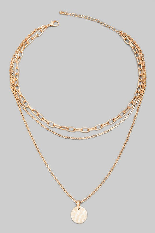 TIP TOP CHAIN DISC NECKLACE