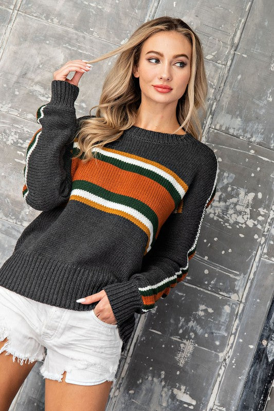 RIVERDALE VINTAGE STRIPE SWEATER