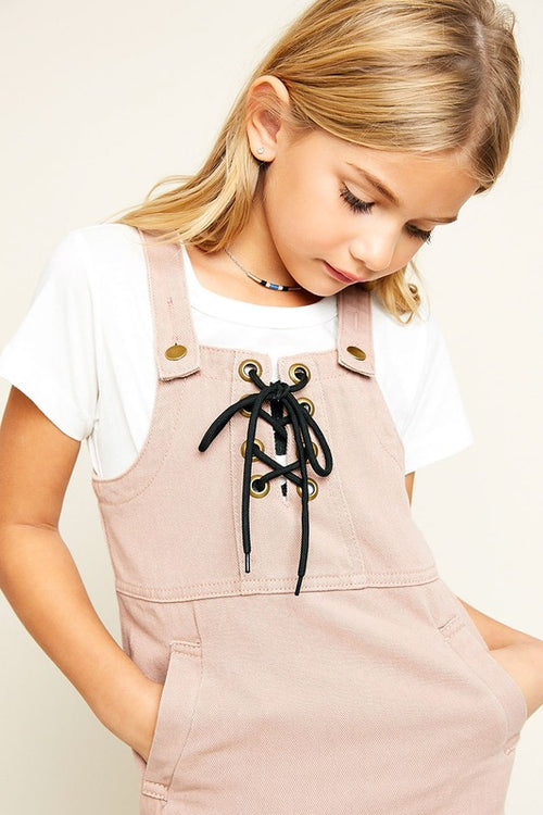 KIDS DENIM OVERALL DRESS