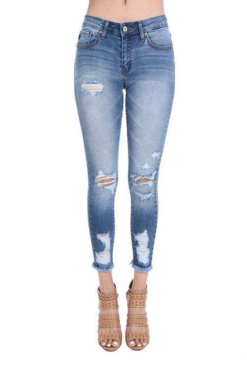 EVERYTHING RIGHT DISTRESSED DENIM