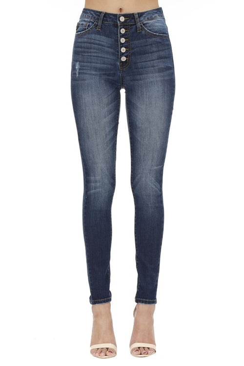 RISE UP HIGH RISE SUPER DARK DENIM