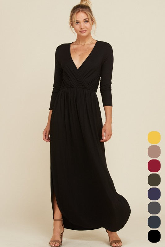 FOREVER YOUNG WRAP DRESS - BLACK