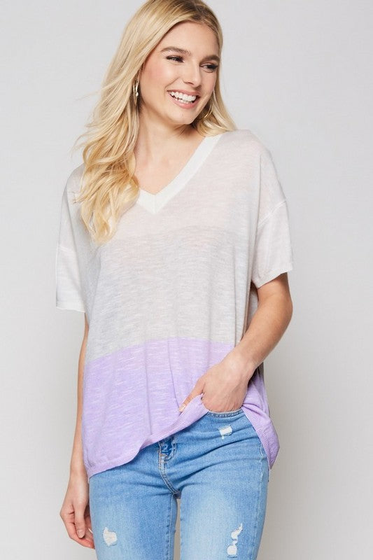 HAPPINESS LAVENDER SWEATER TOP