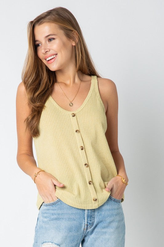 SPRING IN YOUR STEP TANK - MUSTARD