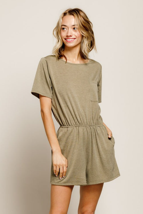 ON THE RUN ROMPER - ARMY