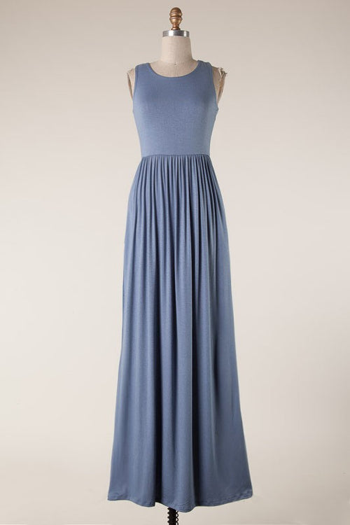 EFFORTLESS VIBES MAXI - BLUE