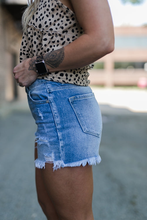 HERE'S TO TODAY HIGH RISE SHORTS
