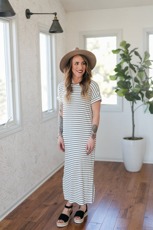 KNOT OVER YOU MIDI DRESS - OFF WHITE