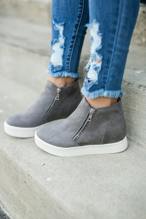 LIFESTYLE WEDGE SNEAKER- GREY