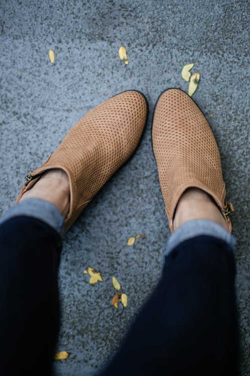 WEEKEND BOOTIE - CAMEL
