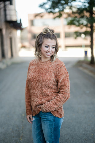 COMFORT TIME CAMEL SWEATER