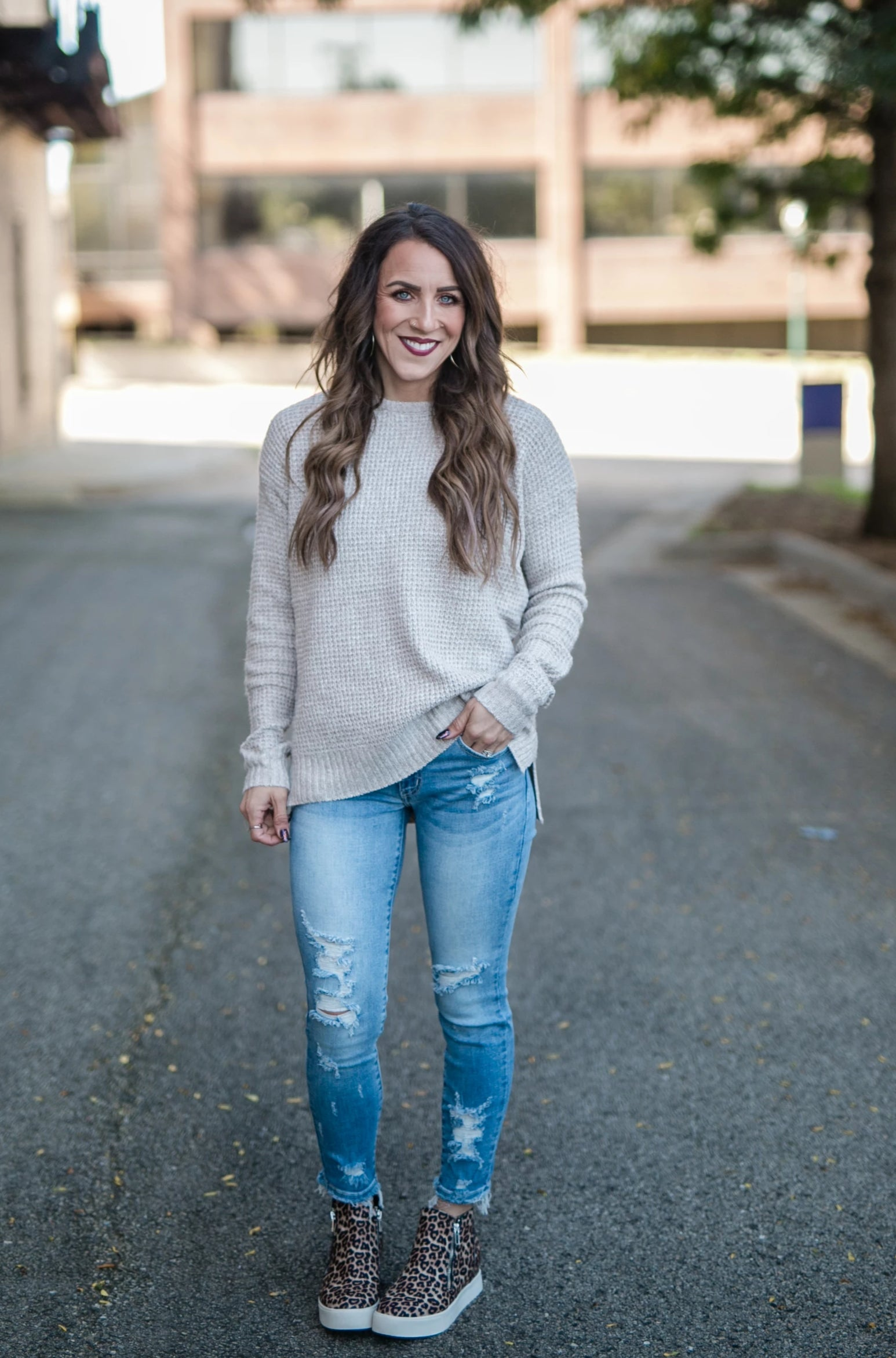 COMFORT TIME TAUPE SWEATER