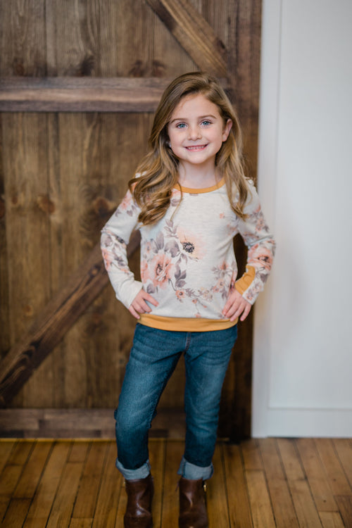 KIDS FLORAL OATMEAL TOP