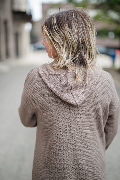 CHILL BY CHOICE TAUPE CARDIGAN