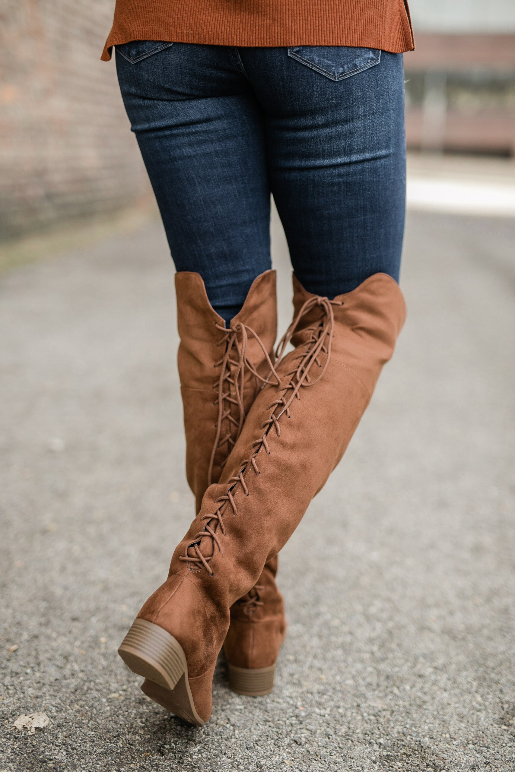 WALK YOUR WALK OVER THE KNEE BOOT - TAN